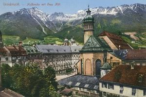 View of Mountains from Innsbruck, Austria