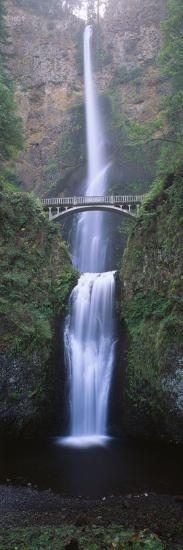 View of Multnomah Falls in Columbia Gorge, Oregon, USA-Walter Bibikow-Premium Photographic Print