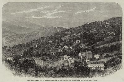 View of Murree, One of the Sanitariums in India, from the Observatory Hill--Giclee Print