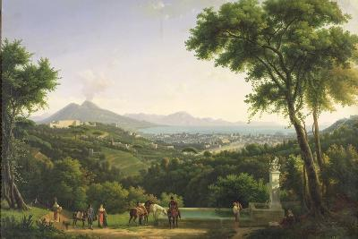 View of Naples from Capodimonte, 1813-Alexandre Hyacinthe Dunouy-Wall Mural – Large