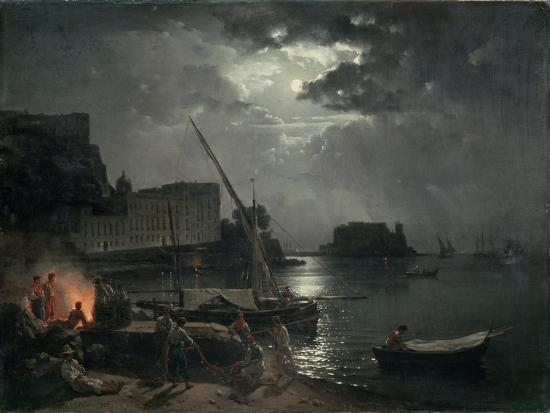 View of Naples in Moonlight, 1829-Silvestr Fedosievich Shchedrin-Giclee Print