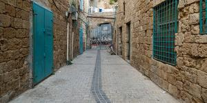 View of narrow alley, Acre (Akko), Israel