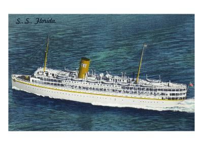 View of Nassau Cruises Liner SS Florida-Lantern Press-Art Print