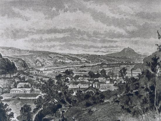 View of Nelahozeves, Birthplace of Composer Antonin Leopold Dvorak--Giclee Print