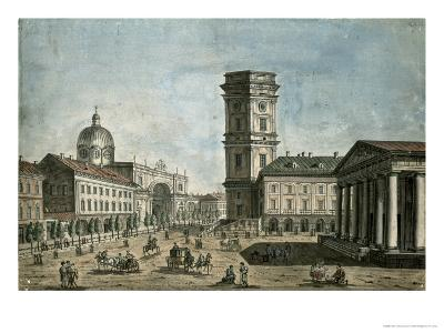 View of Nevsky Prospekt, St. Petersburg, 1810-Fedor Aleksandrovich Vasiliev-Giclee Print