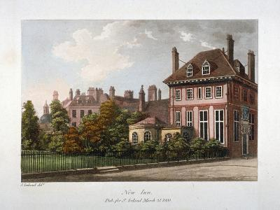 View of New Inn, Wych Street, Westminster, London, 1800-Samuel Ireland-Giclee Print
