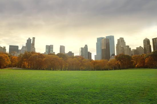 View of New York Buildings from Central Park-olly2-Photographic Print