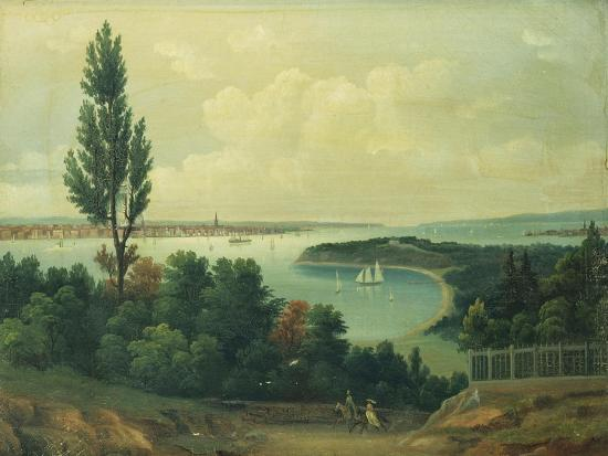 View of New York from New Jersey-John Bachman-Giclee Print