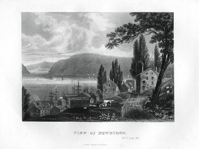 View of Newburgh, New York State, 1855--Giclee Print