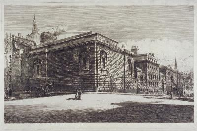 View of Newgate Prison, Old Bailey, from Newgate Street, City of London, C1900-William Monk-Giclee Print