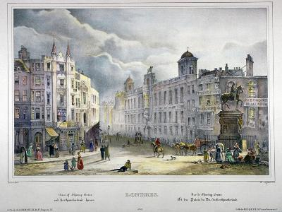 View of Northumberland House and Charing Cross, Westminster, London, 1840-A Legrand-Giclee Print