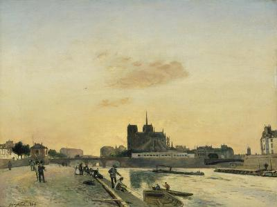 View of Notre Dame, Paris, 1864-Johan-Barthold Jongkind-Giclee Print