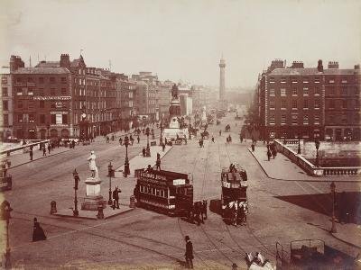 View of O'Connell Bridge and Sackville Street, Dublin, Ireland, Late 19th Century--Photographic Print