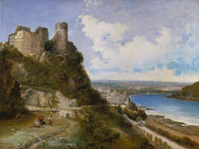 View of Oberwesel on the Rhine with Castle Ruin, 1897-Arthur Joseph Meadows-Giclee Print