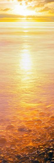 View of Ocean During Sunset, Calumet Park Beach, La Jolla, San Diego, California, Usa--Photographic Print
