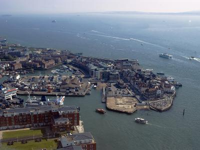 View of Old Portsmouth from Spinnaker Tower, Portsmouth, Hampshire, England, United Kingdom, Europe-Ethel Davies-Photographic Print