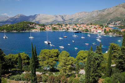 View of Old Town and Adriatic Coast-Frank Fell-Photographic Print