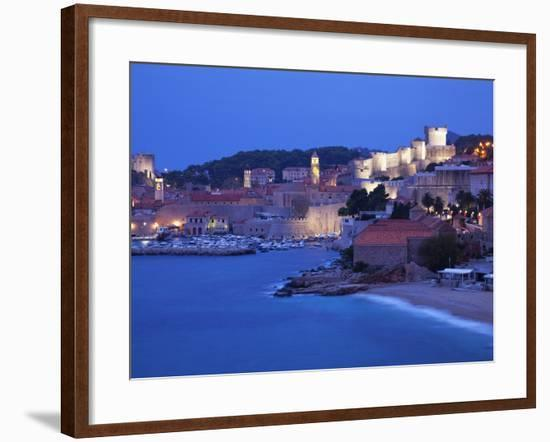 View of Old Town in the Early Morning, UNESCO World Heritage Site, Dubrovnik, Croatia, Europe-Martin Child-Framed Photographic Print