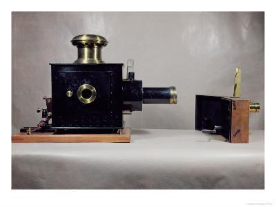 View of One of the First Cinema Projectors, Manufactured by August--Giclee Print