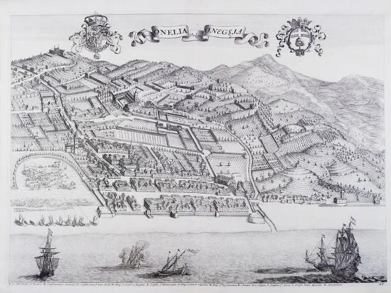 View of Oneglia, by Theatrum Regiae Celsitudinis Sabaudiae, 1682ed in Amsterdam--Giclee Print