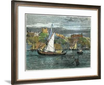 View of Oporto, Portugal, C1880- Swain-Framed Giclee Print
