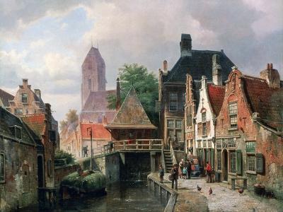 View of Oudewater, C1867-Hermanus Koekkoek-Giclee Print