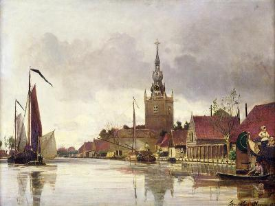 View of Overschie Near Rotterdam, 1856-Johan-Barthold Jongkind-Giclee Print