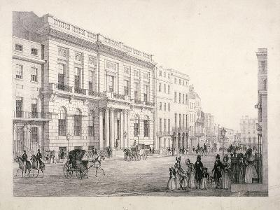 View of Oxford and Cambridge University Club, in Pall Mall, Westminster, London, C1840--Giclee Print