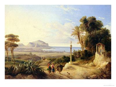 View of Palermo, 1840-Consalvo Carelli-Giclee Print