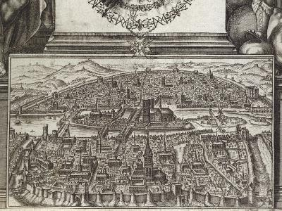 View of Paris, 1607, France 17th Century--Giclee Print