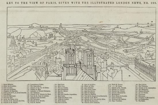View of Paris, Given with the Illustrated London News--Giclee Print