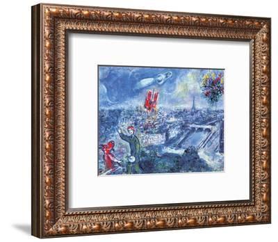 View of Paris-Marc Chagall-Framed Art Print