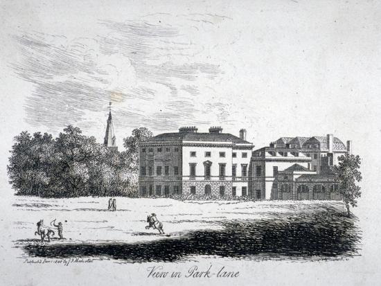 View of Park Lane, Westminster, London, 1808-James Peller Malcolm-Giclee Print