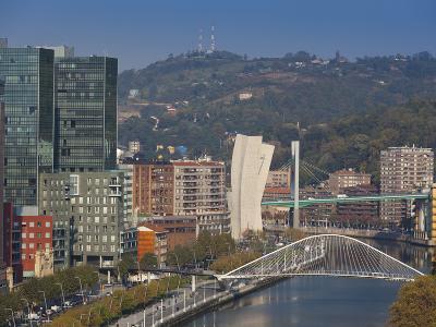 View of Parque Etxebarria Park, Bilbao, Spain-Walter Bibikow-Photographic Print