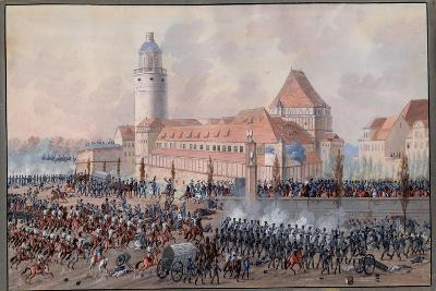View of Peters Thor in Leipzig, 19th October 1813-Balthasar Wigand-Giclee Print
