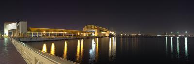 View of Pier 6 at night, Bahia Urbana, Old San Juan, San Juan, Puerto Rico, USA--Photographic Print