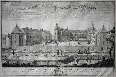 View of Pierre De Bresse Chateau Seen from Court of Honor, Burgundy, France, 18th Century--Giclee Print