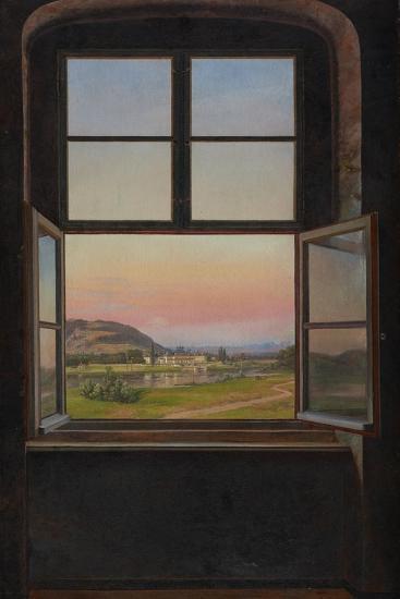 View of Pillnitz Castle, 1823-Johan Christian Clausen Dahl-Giclee Print