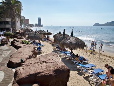 View of Playa Gaviotas at the El Cid Resort, Mazatlan, Mexico-Charles Sleicher-Photographic Print