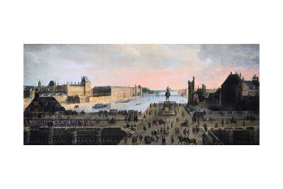 View of Pont Neuf, Paris, C1635--Giclee Print