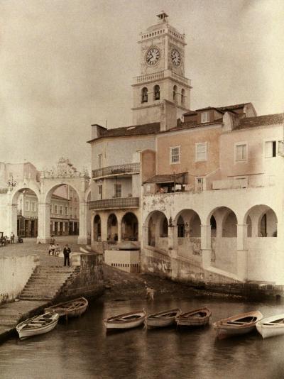 View of Ponta Delgada's City Gates and Clock Tower-Wilhelm Tobien-Photographic Print