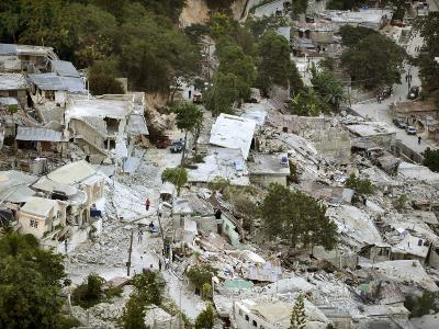 View of Port-Au-Prince, Haiti, after a Magnitude 7 Earthquake Hit the Country--Photographic Print