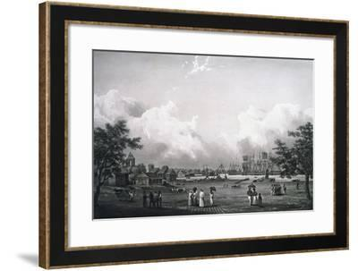 View of Port-Louis, Ile-De-France, Mauritius-Cyrille Pierre Theodore Laplace-Framed Giclee Print