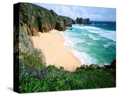 View of Porthcurno Beach, Cornwall, England, Great Britain