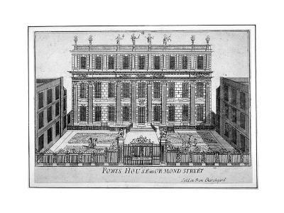 View of Powis House, Great Ormond Street, Bloomsbury, London, C1720--Giclee Print