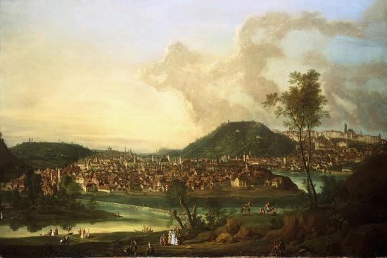 View of Prague from the East-Johann Friedrich Meyer-Giclee Print