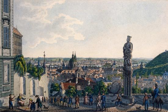 View of Prague from the New Castle Steps, 1835-Vincenc Morstadt-Giclee Print