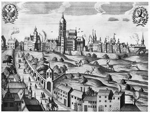 View of Prague Showing the Imperial Palace and the College of Theology, circa 1618