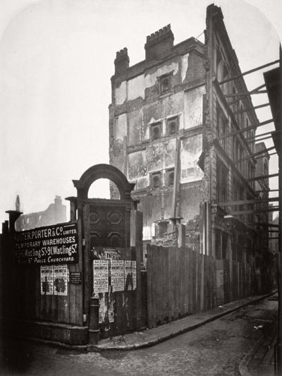 View of Premises in Addle Street, Destroyed by Fire, City of London, 1883-Henry Dixon-Giclee Print
