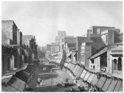 View of Principal Street, Agra, C1860--Giclee Print